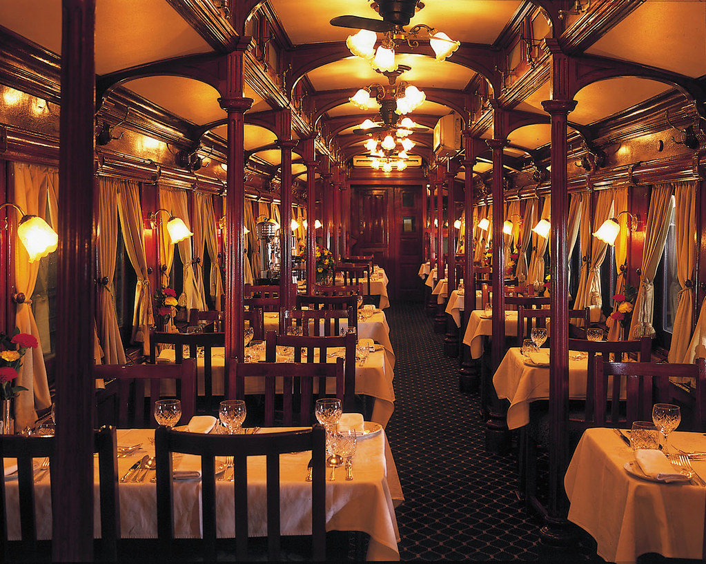 rovos rail from the luxury train club restaurant by nigh flickr. Black Bedroom Furniture Sets. Home Design Ideas