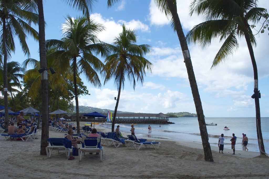 Beach At St James Club Morgan Bay St Lucia Steve