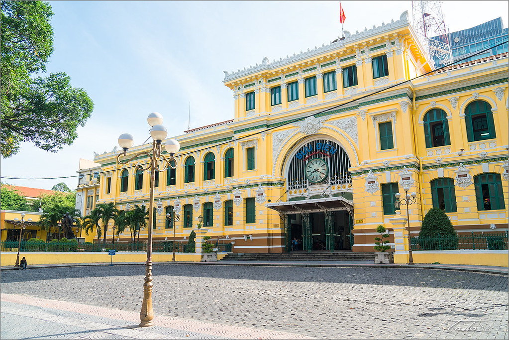 胡志明自由行︱胡志明市 中央郵政總局.歷史記憶的百年郵局