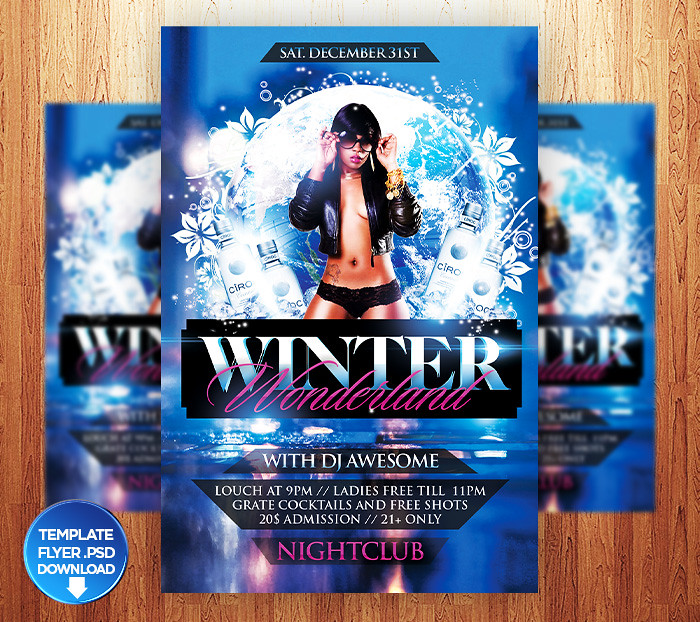 Winter Wonderland Flyer Template  You Can Download This Tem  Flickr
