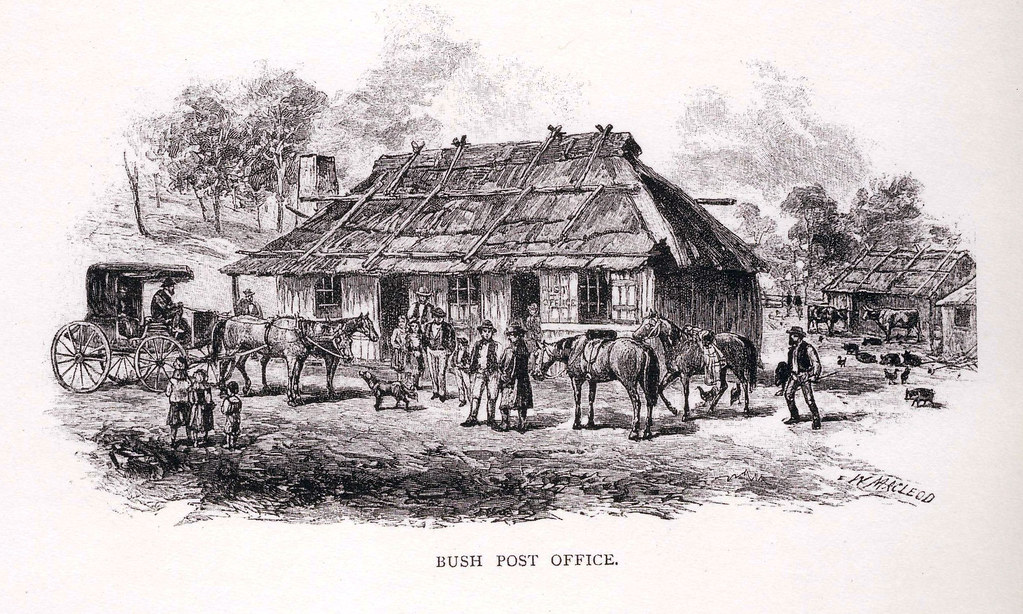 Bush Post Office Sketch From Australia Post The Early Y