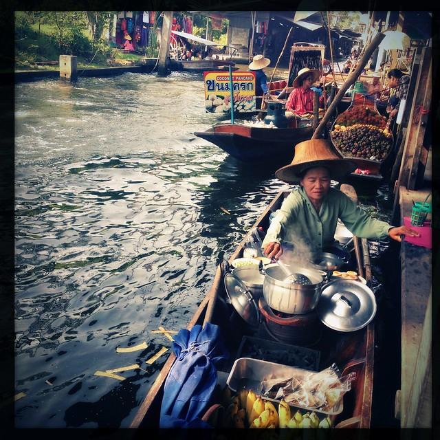 Canoe Restaurant, Floating Market, Thailand