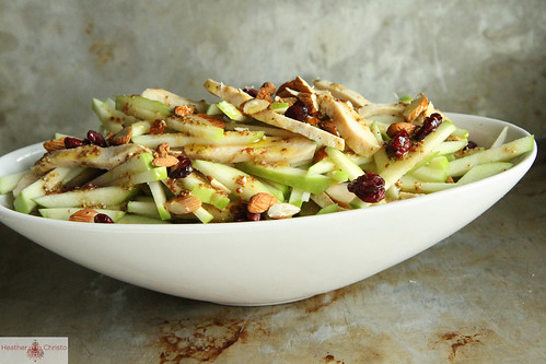 Chicken, Apple Cranberry and Almond Salad | by Heather Christo