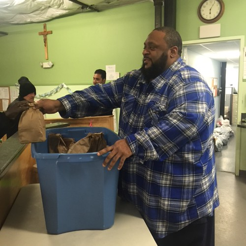 Alamin Muhammad, who was once homeless, works full-time running We Rise Above the Streets to help meet then needs of Syracuse's homeless residents.