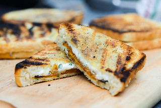 Grilled Cheese with Butternut Squash, Ricotta, Parmesan, Fontina, and Sage