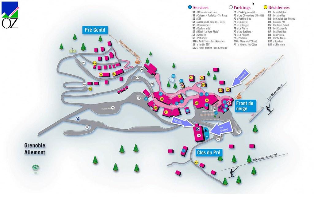 Oz-en-Oisans resale penthouse | Map of situation | Selected