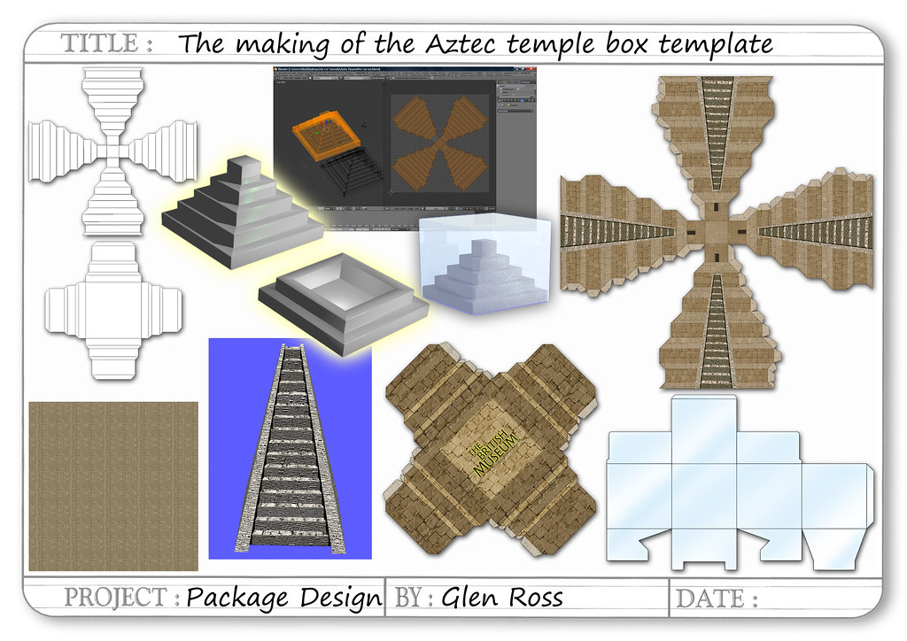 the aztec temple box template