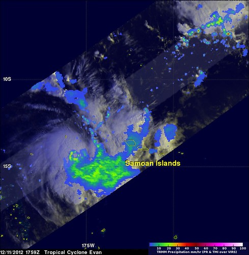 NASA's TRMM Satellite Finds Heaviest Rains in Tropical Cyclone Evan | by NASA Goddard Photo and Video