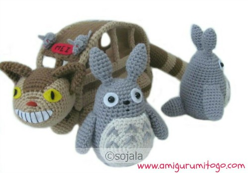 Totoro Catbus Amigurumi : Totoro and Cat Bus Free Amigurumi Patterns see blog here ...