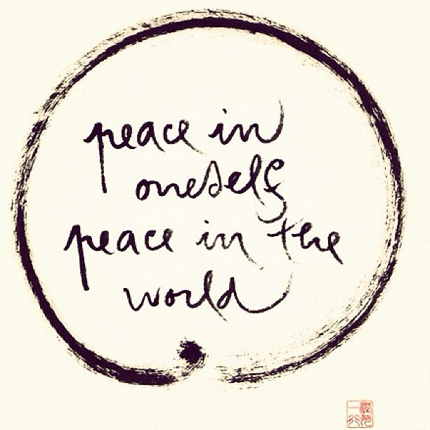 Peace Happiness Love Life Quotes Karma World S Flickr