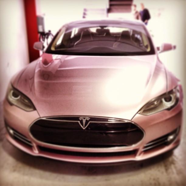 Pink Tesla