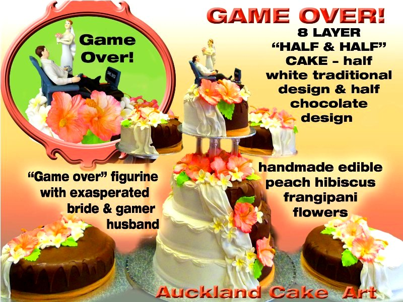 GAME OVER HALF AND HALF WEDDING CAKE | GAME OVER - half and … | Flickr