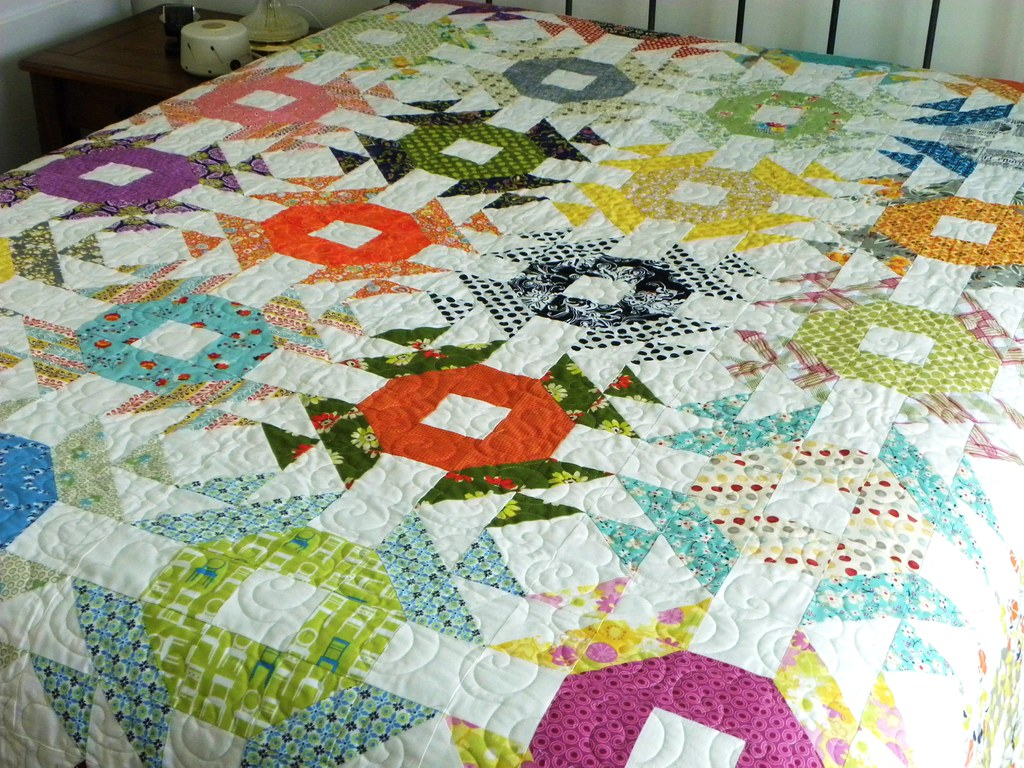 Crown Of Thorns Quilt 3 My Stash Trad Bee Quilt Is Finis Flickr