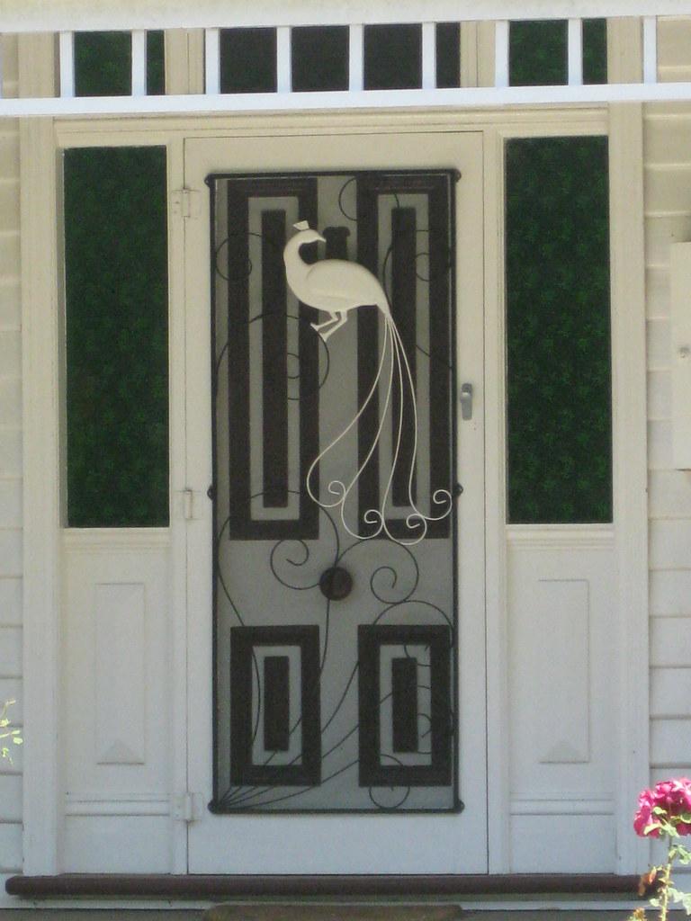 ... The Front Door and Green Bottle Glass Panels of a Mid Victorian Weatherboard Villa - Korumburra & The Front Door and Green Bottle Glass Panels of a Mid Vict\u2026 | Flickr