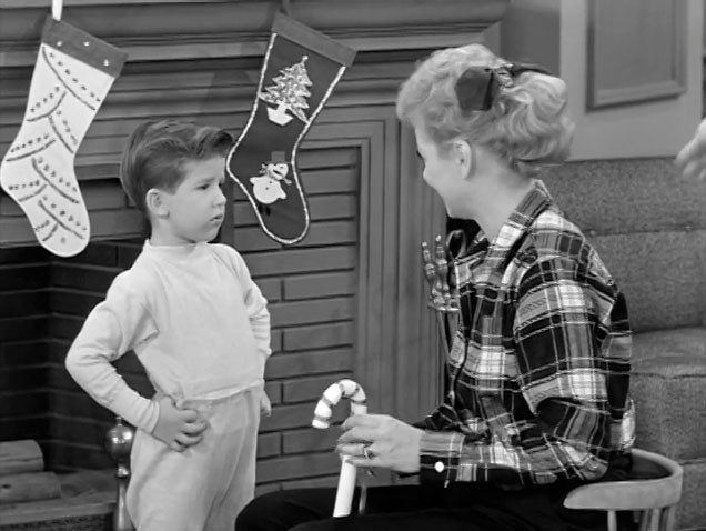 Lucy and little ricky are ready for christmas lucille for Who played little ricky in i love lucy