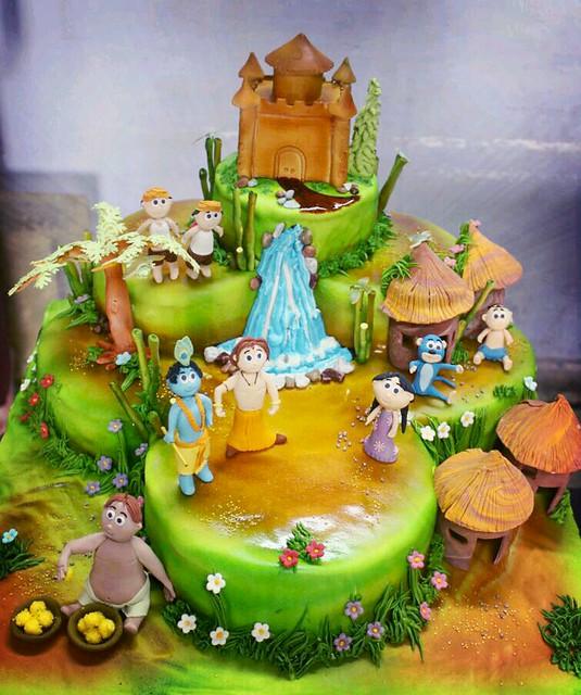 Happy Birthday Krishna Cake