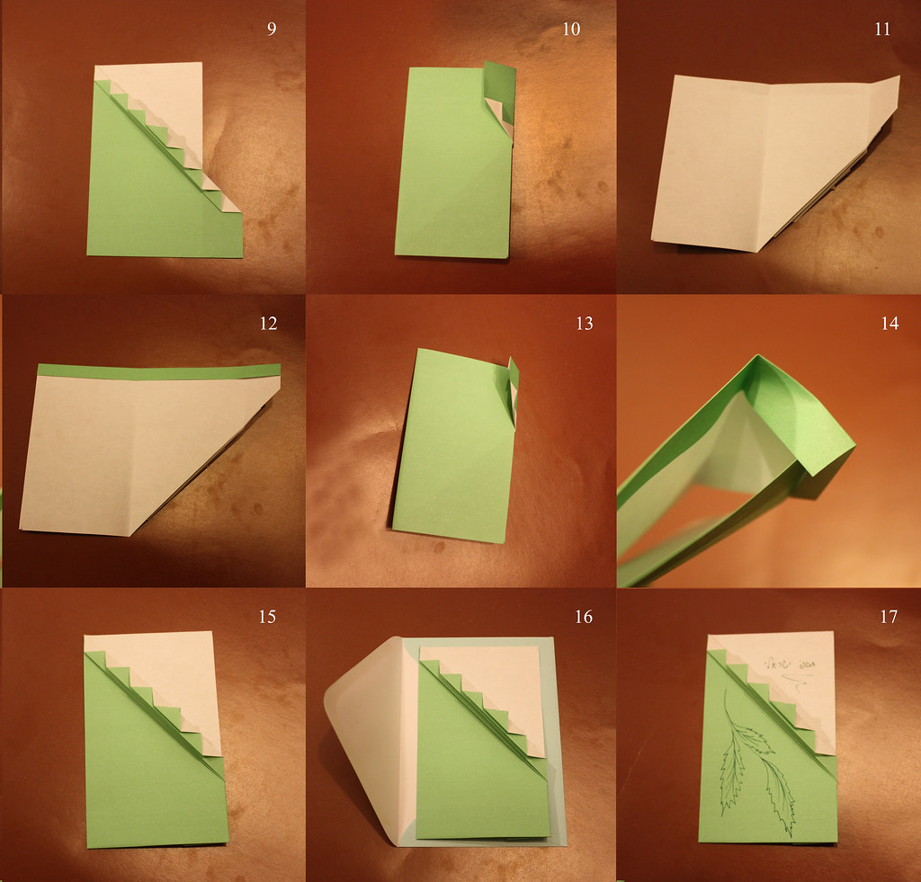 How to fold origami invitation to event / greeting card. S ... - photo#7