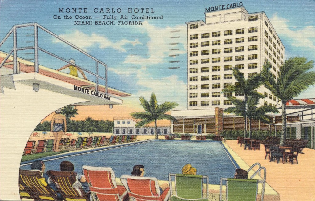 the cardboard america motel archive monte carlo resort hotel miami beach florida. Black Bedroom Furniture Sets. Home Design Ideas