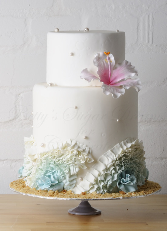 learn how to make wedding cakes ruffle wedding cake learn how to make a hibiscus flower 16778