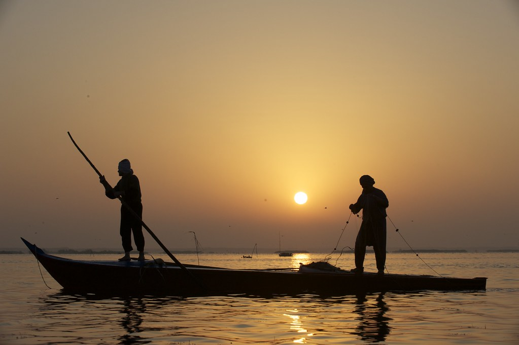 Fishing at sunrise in lake edku egypt photo by patrick d for Lake of egypt fishing report