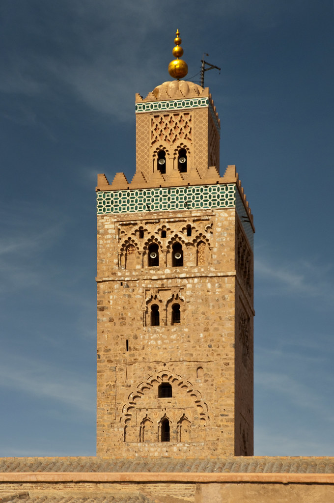 morocco marrakech koutoubia mosque minaret 01. Black Bedroom Furniture Sets. Home Design Ideas