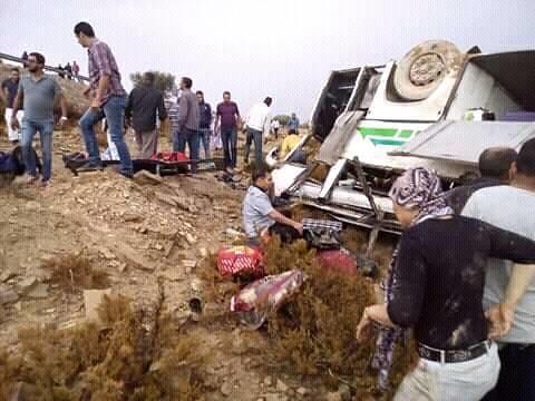 Three Dead and 50 Injured in El Fahs' Bus Crash