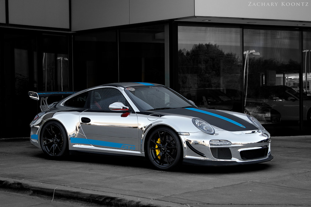 Porsche 911 Gt3 Rs 4 0 Full Shot Of The Chrome Wrapped 4