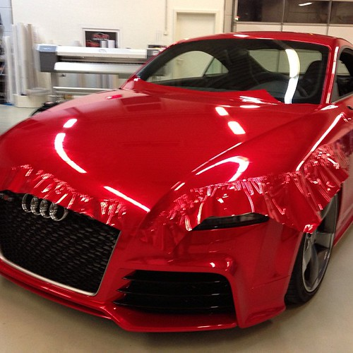 Audi Tt Rs Full Car Wrap In Red Chrome By Hexis Hexis C