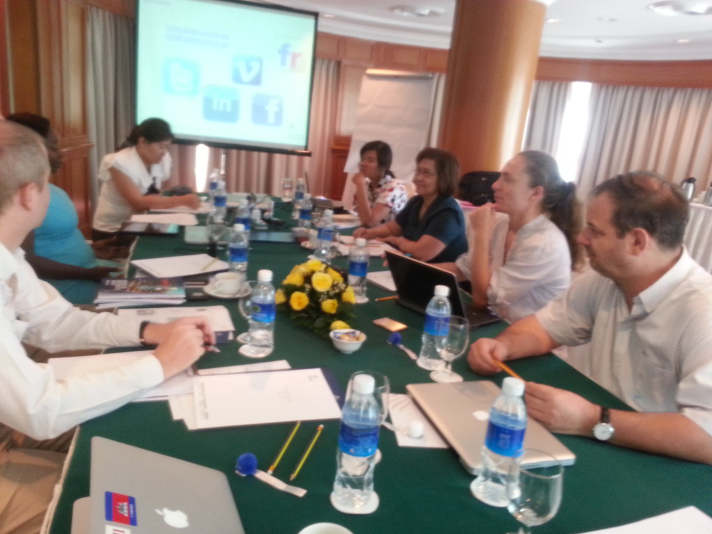 Spider Cambodia ICT 4D group meeting to discuss how ICT to