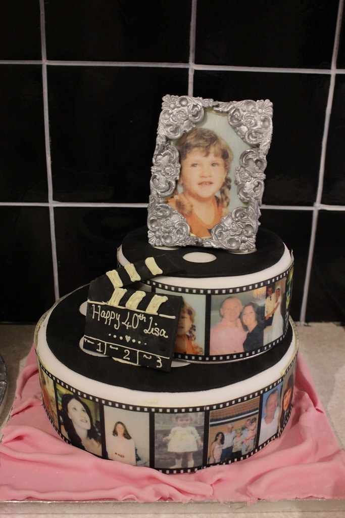 Photo Film Reel And Edible Frame Birthday Cake Photo Film Flickr