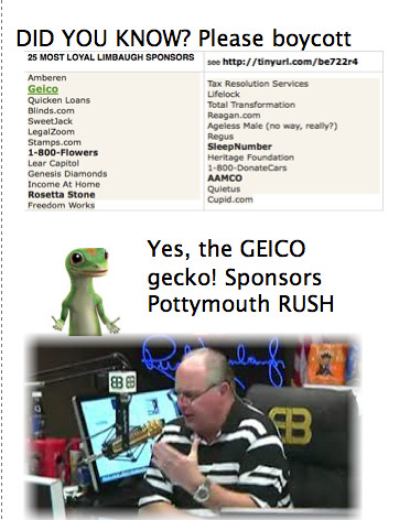 GEICO gecko sponsors Limbaugh | by Shards08