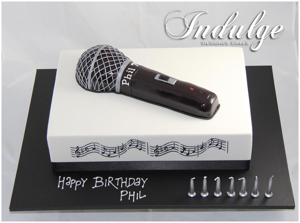 Happy Birthday Microphone Cake