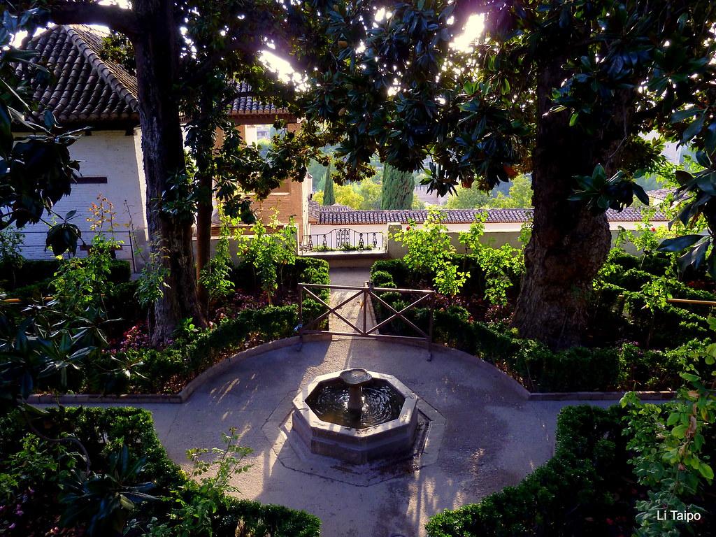 Granada los jardines altos del generalife li taipo for Jardines generalife
