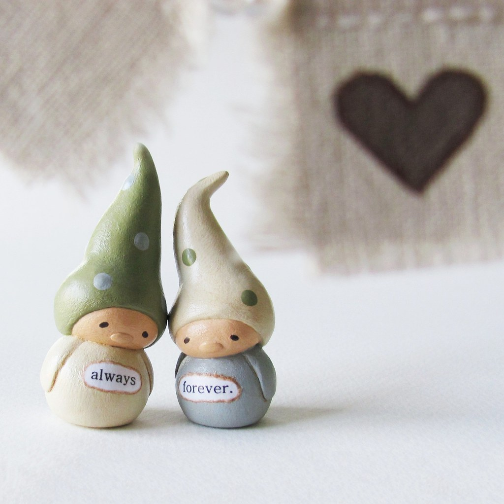 Woodland Wedding Cake Topper Gnomes and Bunting | humbleBea | Flickr