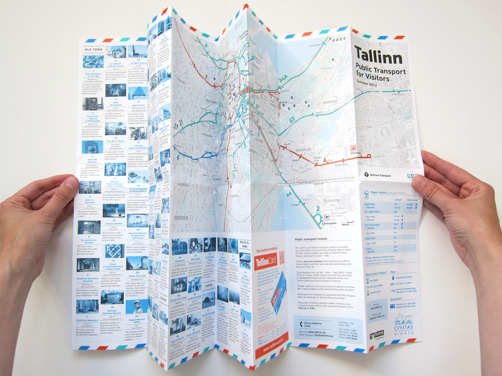 Tallinn Transport tourist map Tallinn Transport tourist ma Flickr