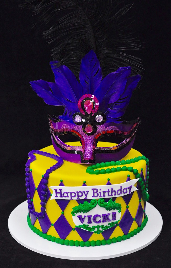 New Orleans Masquerade Cake Jenny Wenny Flickr