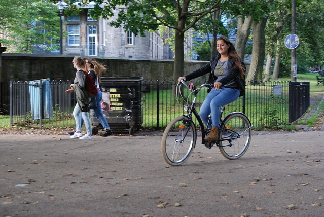 Riding a bicycle make you happy