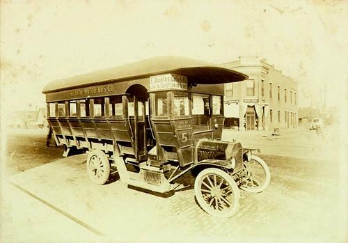 Kansas Wichita Motor Bus Company First City Bus 1917