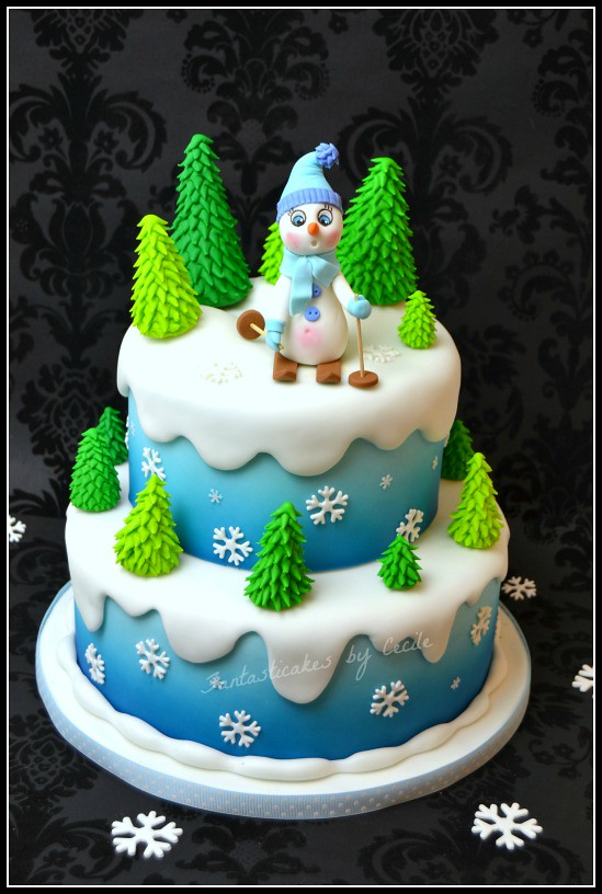Cake Decorating Ideas For New Job : Winter Cake I made this cake for