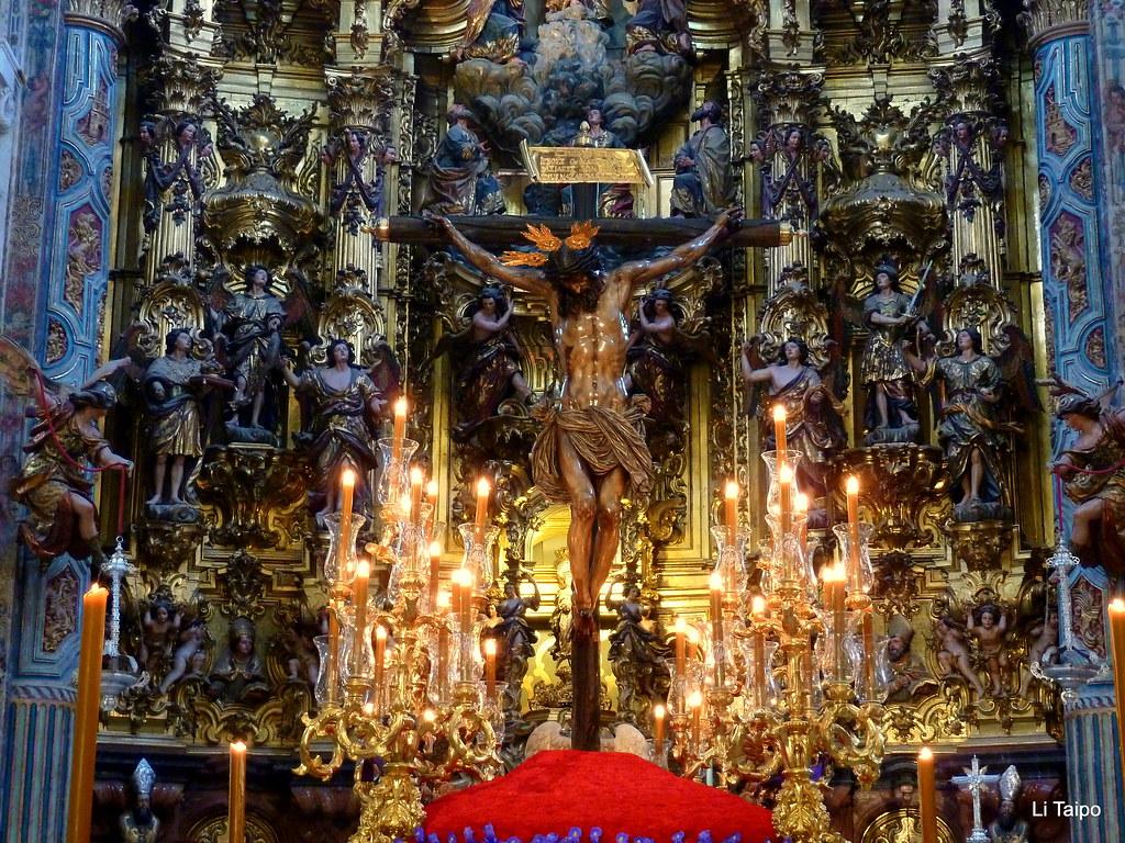 Sevilla barroca interior de la iglesia del salvador con e for Ministerio del interior sevilla