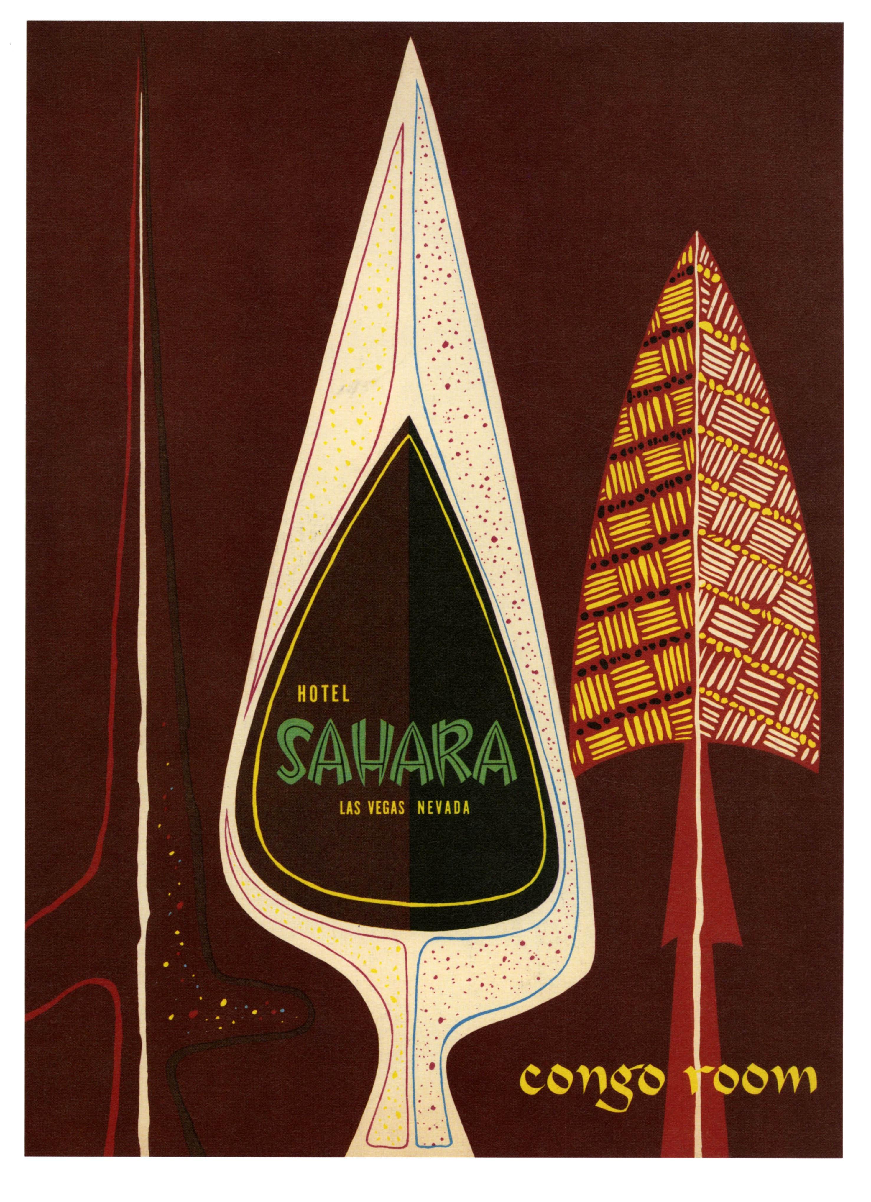 Sahara Hotel Congo Room - Las Vegas, Nevada U.S.A. - 1954