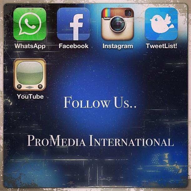 follow us facebook promedia international instagram pr flickr. Black Bedroom Furniture Sets. Home Design Ideas