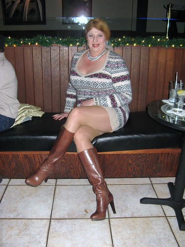 Holiday Mini Sweater Dress And Nine West Platform Boots -6012