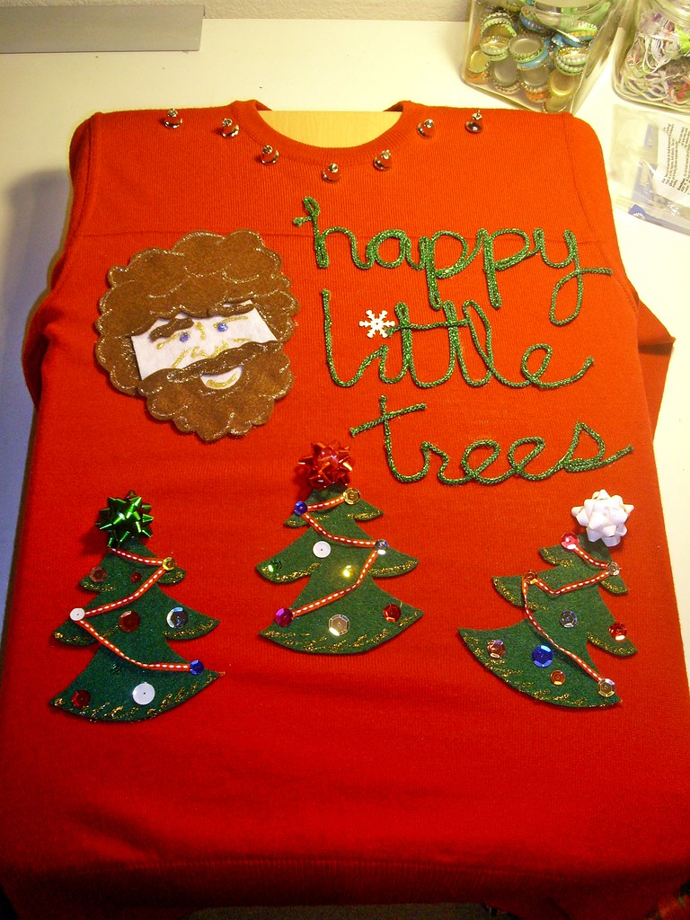 Bob Ross Ugly Christmas Sweater Hes My Hero Amber Flickr