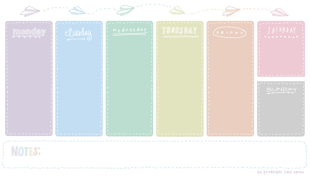 Weekly Planner by Goodnight Little Spoon | Feel free to