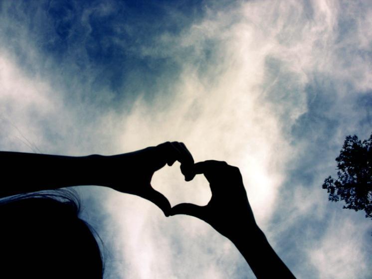 Hand Love Heart Paint