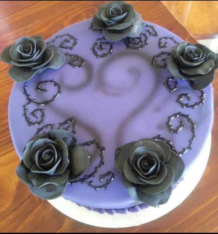A Tim Burton Inspired Birthday Cake This Was A Birthday Ca Flickr