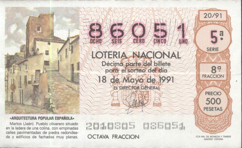 Décimo de Lotería de Martos