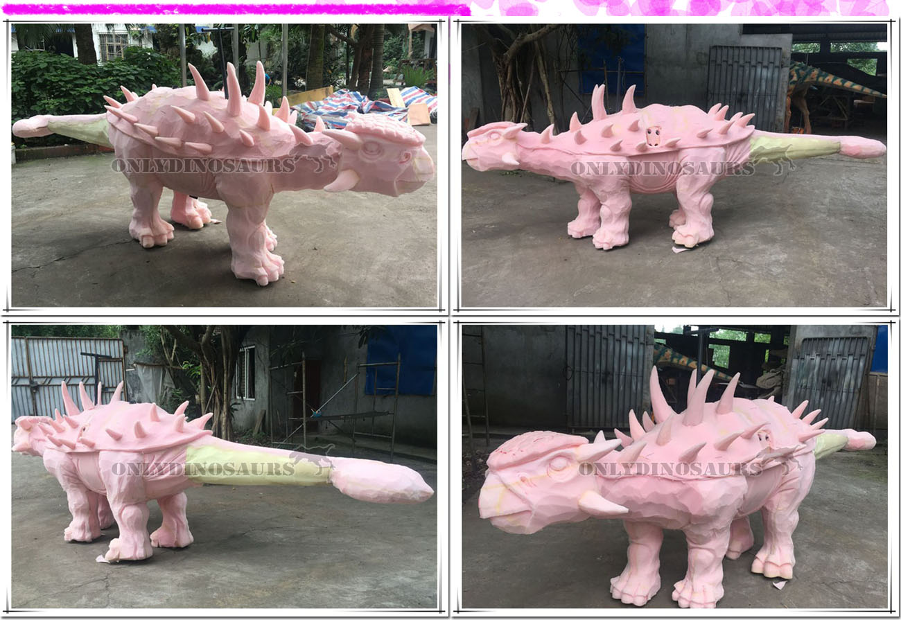 Sculpture Work of Walking Dinosaur Ride
