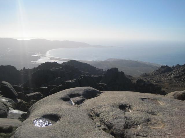 Playa de Carnota desde el monte Pindo